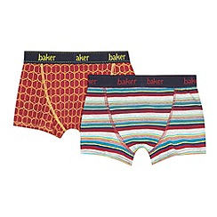 Baker by Ted Baker - Pack of two boys' orange trunks
