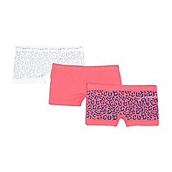 Pineapple - Pack of two girls' pink and white animal shorts