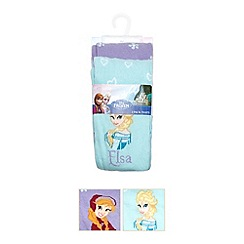 Disney Frozen - Pack of two girl's blue 'Frozen' tights