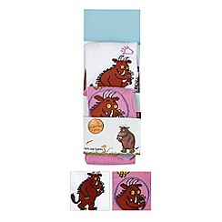 The Gruffalo - Pack of two girl's pink and white 'Gruffalo' tights