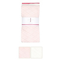 J by Jasper Conran - Pink and white diamond tights pack of two
