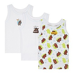 The Gruffalo - Pack of three boy's white 'Gruffalo' vests
