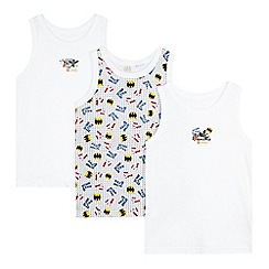 Lego - Pack of three boy's white Lego Batman vests