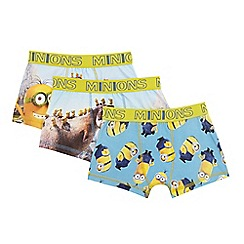 Despicable Me - Pack of three boy's yellow 'Minion' trunks
