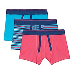 bluezoo - Pack of three boy's blue and pink trunks
