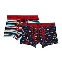 Baker by Ted Baker - Pack of two printed boys' trunks