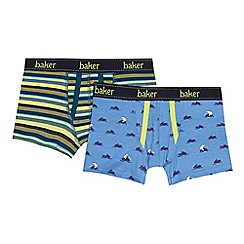 Baker by Ted Baker - Pack of two boys' assorted polar bear and printed trunks