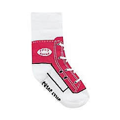 Silly Socks - Girls' pink trainer socks