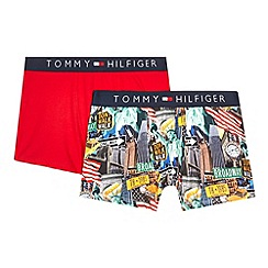 Tommy Hilfiger - Pack of two boys' red American print trunks