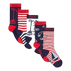 J by Jasper Conran - Pack of three navy and red boat socks