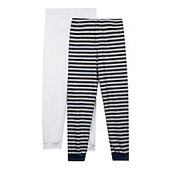 bluezoo - Pack of two baby boys' navy striped leggings