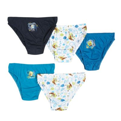 Boys Pack Of Five Spongebob Briefs