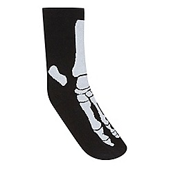 Silly Socks - Boys' black skeleton socks