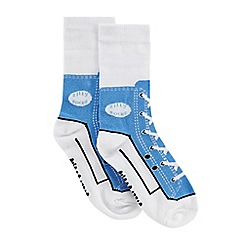 Silly Socks - Children's blue sneakers print socks