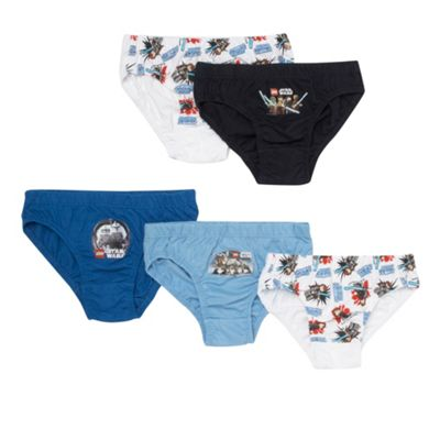 Boys Pack Of Five Star Wars Briefs
