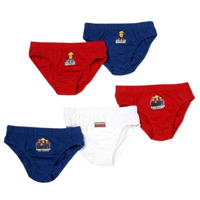 Boys Pack Of Five Fireman Sam Briefs
