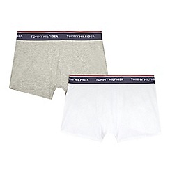 Tommy Hilfiger - Pack of two boys' grey and white trunks