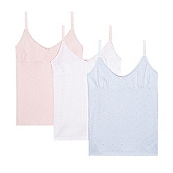 J by Jasper Conran - Pack of three girls' assorted floral print vests