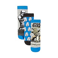 Star Wars - Pack of three boys' grey character socks
