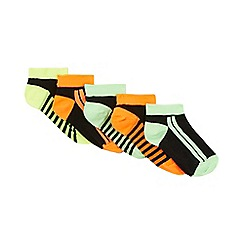 bluezoo - Pack of five boys' neon green trainer socks
