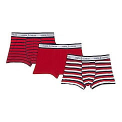 J by Jasper Conran - Pack of three boys' assorted printed trunks