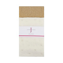 J by Jasper Conran - Pack of two girls' gold sparkly heart tights