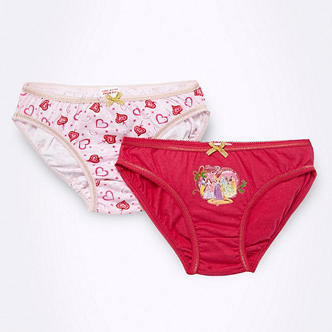 Disney Princess - Girl+s pack of two pink +Disney Princess+ briefs
