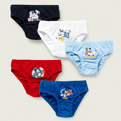 Minnie Mouse - Boy+s pack of five +Mickey Mouse+ briefs