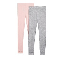 Debenhams - Girls' pack of two multi-coloured thermal leggings