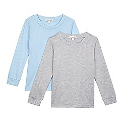 Debenhams - Pack of two boys' multi-coloured thermal tops