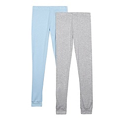 Debenhams - Boys' pack of two multi-coloured ribbed thermal trousers