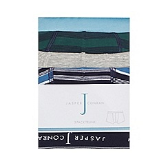 J by Jasper Conran - Pack of three boys' assorted plain and striped print trunks