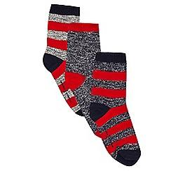 J by Jasper Conran - Pack of three boys' red striped print socks