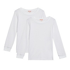 Debenhams - Pack of two boys' long sleeved thermal tops