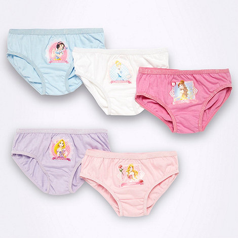 Disney - Girl's pack of five pink 'Disney Princess' briefs