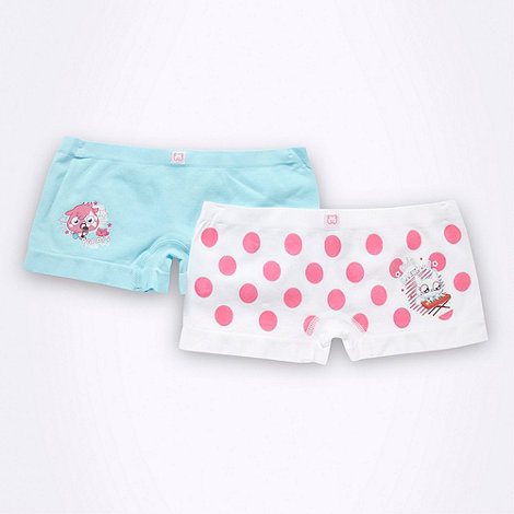 Moshi Monsters - Pack of two girl+s blue Moshi Monsters shorts