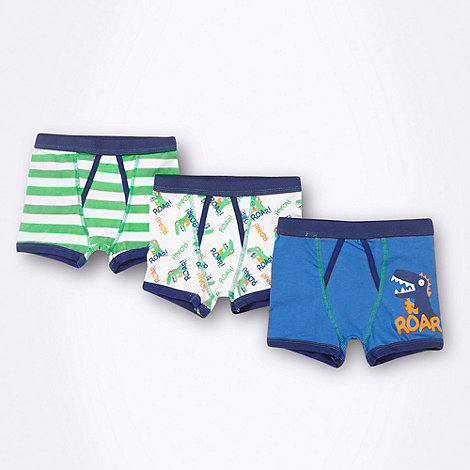 bluezoo - Boy+s pack of three dinosaur patterned trunks