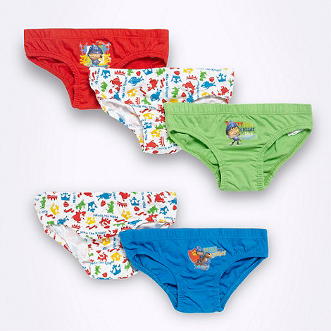 Mike the Knight - Boy+s pack of five red green and blue +Mike the Knight+ briefs