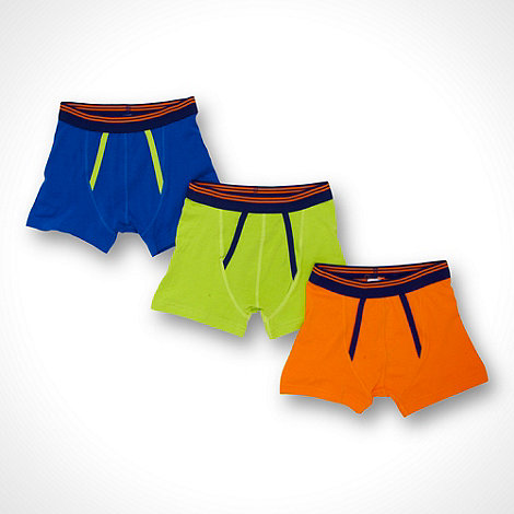 bluezoo - Boy+s pack of three plain cotton trunks