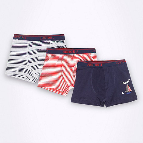 J by Jasper Conran - Designer boy+s pack of three nautical trunks