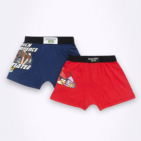 Angry Birds - Boy+s pack of two +Angry Birds+ boxer shorts