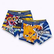 Boy's pack of two blue 'Moshi Monsters' trunks