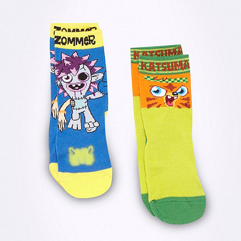 Moshi Monsters - Pack of two boy+s Moshi Monsters socks