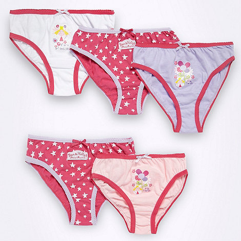 Ben & Holly+s Little kingdom - Girl+s pack of five +Ben & Holly+ briefs