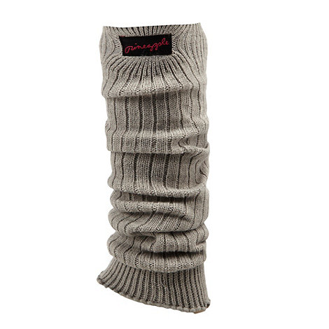 Pineapple - Light grey ruffled hem leg warmers