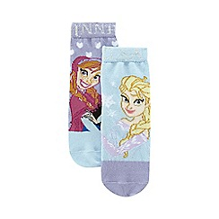 Disney Frozen - Pack of two girls blue and purple 'Frozen' socks