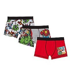 Marvel - Pack of three boys' multi-coloured 'Avengers' print trunks