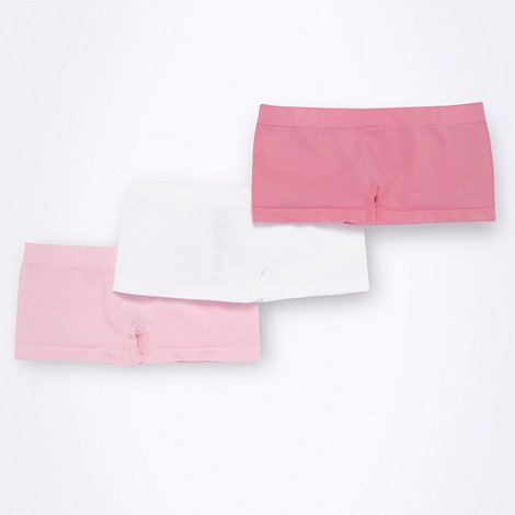 bluezoo - Girl+s pack of three plain seam free shorts