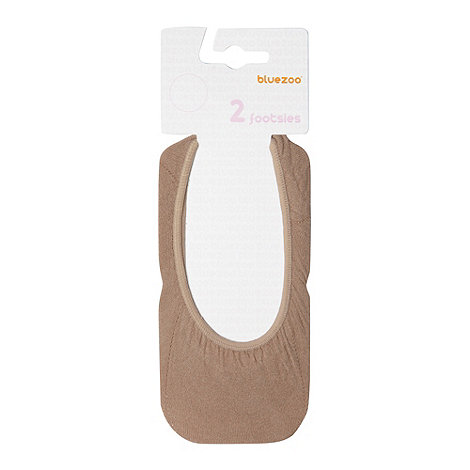 bluezoo - Girl's pack of two light tan footsies