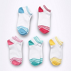 bluezoo - Girl's white colour tipping socks